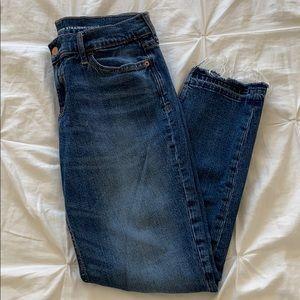 Old Navy fringe boyfriend jeans